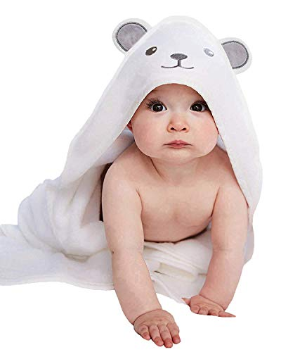Perfect Baby Shower Gift Ultra Soft Bamboo Baby Towels with Hood for Boys and Girls Large Newborn Towel Lilyseed Premium Organic Hooded Baby Towel and Washcloth Gift Set Bear Infants,Toddlers