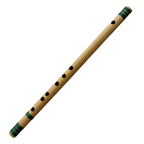 Bamboo Clarinet Vertical Flute with Clear Line Chinese Handmade Musical Instrument in D Key Brown-G Key